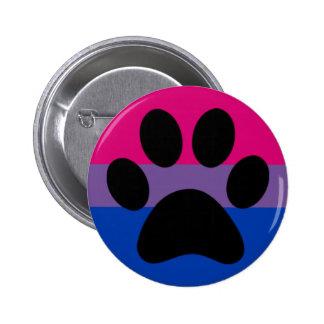 Bi furry pride 6 cm round badge