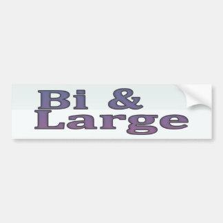 Bi & Large Bumper Sticker