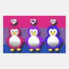 Bi Love Bi Pride Cute penguins Rectangular Sticker