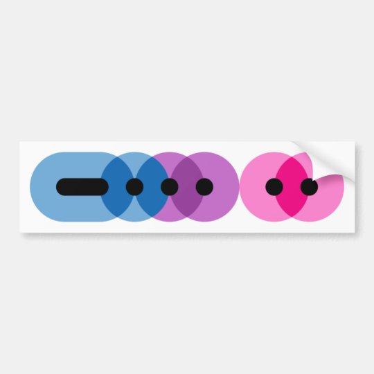 Bi Morse Code Bar Bumper Sticker