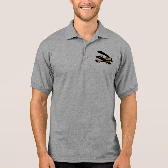 Bi-Plane Comic Mens Polo Shirt