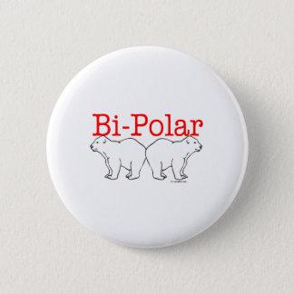 Bi-Polar 6 Cm Round Badge