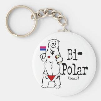 Bi-Polar Bear Key Ring