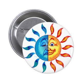 Bi Polar Solar 6 Cm Round Badge