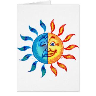 Bi Polar Solar Greeting Card