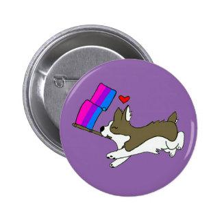 Bi Pride Corgi Pin