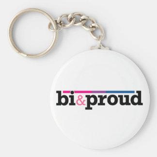 Bi&proud White Keychain