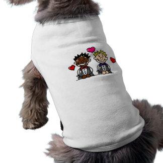 Bi-Racial Gay Grooms Sleeveless Dog Shirt