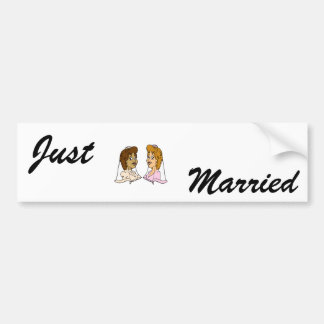 Bi-Racial Lesbians Bumper Sticker