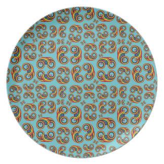 Bi Rainbow melamine plate