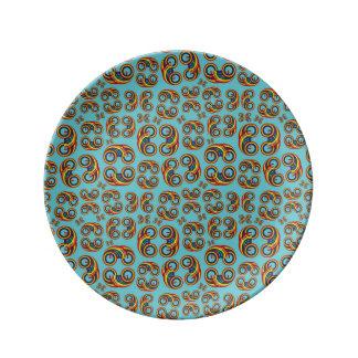 Bi Rainbow porcelain plate