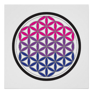 bi sacred geometry poster