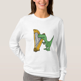 BI- T-Rex Playing Harp Shirt