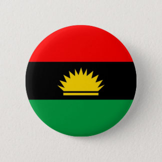 Biafra republic minority people ethnic flag 6 cm round badge