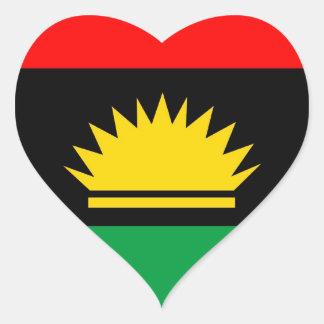 Biafra republic minority people ethnic flag heart sticker