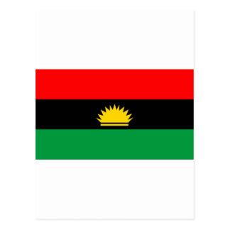 Biafra republic minority people ethnic flag postcard