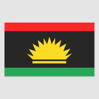 Biafra republic minority people ethnic flag rectangular sticker