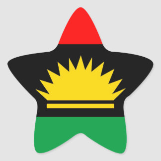 Biafra republic minority people ethnic flag star sticker