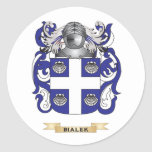 Bialek Coat of Arms (Family Crest) Round Sticker