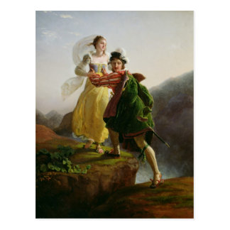 Bianca Cappello Fleeing Postcard