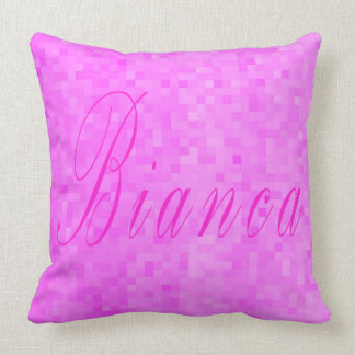 Bianca Girls Name Logo, Cushion