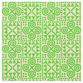 Bianca Grande Green and White Fabric