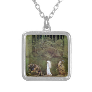Bianca Marie and the Forest Trolls Square Pendant Necklace