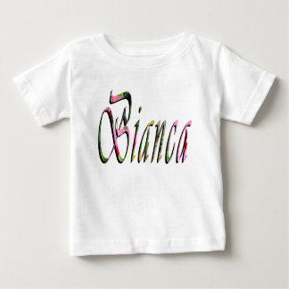 Bianca, Name, Logo, Baby Girl White T-shirt