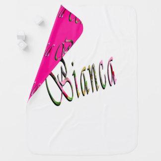 Bianca, Name, Logo, Reversible Baby Blanket. Baby Blanket