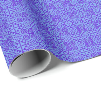 Bianca Purple and Blue Wrapping Paper
