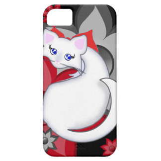 Bianca Toon Kitty Petal Flowers Case Case For The iPhone 5