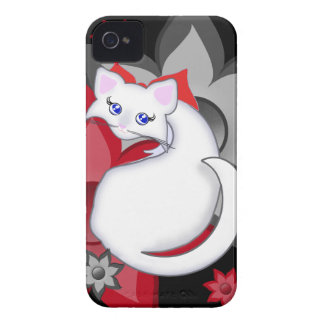 Bianca Toon Kitty Petal Flowers Case iPhone 4 Covers