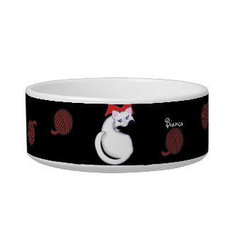 Bianca Toon Kitty Red Yarn Pet Bowl