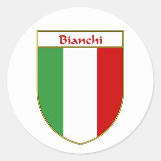 Bianchi Italian Flag Shield Classic Round Sticker