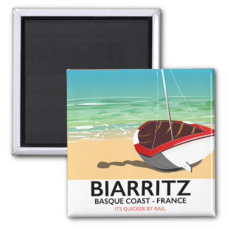 Biarritz France Beach travel poster Magnet