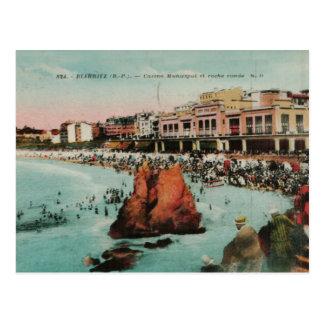 Biarritz Le casino Municipal replica 1917 Postcard