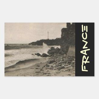BIARRITZ - Rocher de la Virge France 1920 Rectangle Sticker