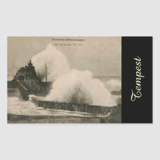 Biarritz Ruse de Marée Tempest 1920 Rectangular Sticker