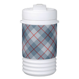 Bias Plaid Blue-Red Stripe Drinks Cooler