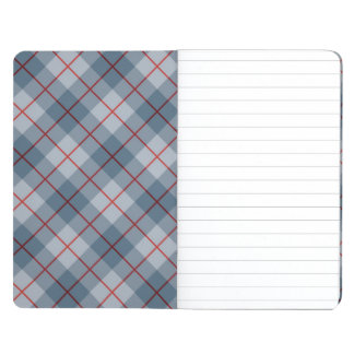 Bias Plaid Blue-Red Stripe Journals