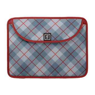 Bias Plaid Blue-Red Stripe Sleeve For MacBooks