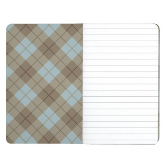 Bias Plaid in Blue and Brown Journals