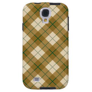 Bias Plaid in Gold with Green Stripe Galaxy S4 Case