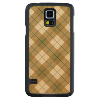 Bias Plaid in Gold with Green Stripe Maple Galaxy S5 Case