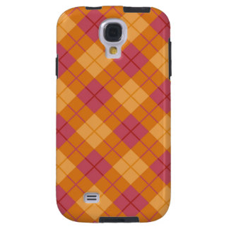 Bias Plaid in Orange and Pink Galaxy S4 Case