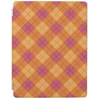 Bias Plaid in Orange and Pink iPad Cover