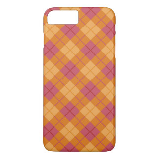 Bias Plaid in Orange and Pink iPhone 8 Plus/7 Plus Case