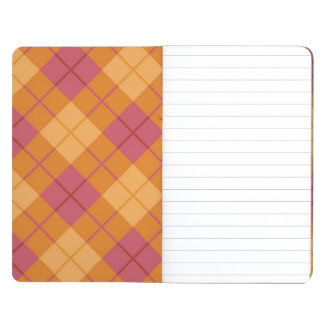Bias Plaid in Orange and Pink Journals