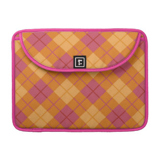 Bias Plaid in Orange and Pink MacBook Pro Sleeves
