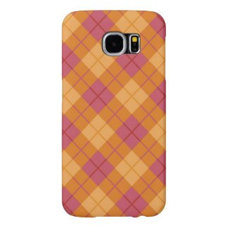 Bias Plaid in Orange and Pink Samsung Galaxy S6 Cases